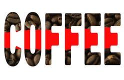 Il caffè di parola Fotografia Stock