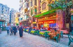 Il caffè egiziano di cucina a Il Cairo fotografia stock libera da diritti