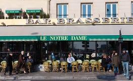 Il caffè francese tradizionale Notre-Dame, Parigi, Francia Fotografia Stock