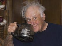 il caffè sente l'odore in su del risveglio Fotografia Stock Libera da Diritti