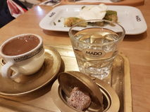 il caffè turco delizia il caffè tradizionale Fotografie Stock Libere da Diritti