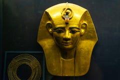IL CAIRO, EGITTO 25 05 Maschera 2018 di Pharao nell'attrazione principale di Il Cairo del museo egiziano immagini stock libere da diritti