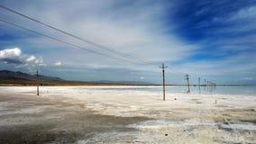 Il Caka Salt Lake Fotografia Stock Libera da Diritti