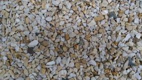 Il calcare del giardino pedals, percorso del giardino, calcareo bianco scheggiato, la decorazione con calcareo, il fondo, modello fotografie stock