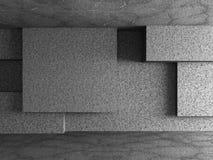 Il calcestruzzo cuba il fondo della parete dei blocchi Immagini Stock Libere da Diritti