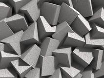 Il calcestruzzo geometrico astratto cuba il fondo dei blocchi Immagine Stock