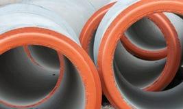 Il calcestruzzo prefabbricato ha congiunto i tubi Fotografia Stock Libera da Diritti