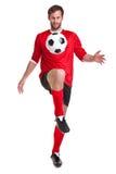 Il calciatore ha tagliato su bianco fotografia stock libera da diritti