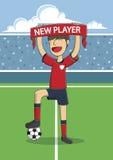 Il calcio/calcio un concetto di firma del nuovo contratto del giocatore Illustrazione Vettoriale
