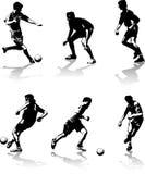 Il calcio calcola le figure illustrazione di stock