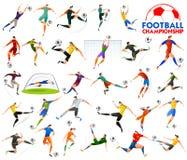Il calcio della tazza di campionato di calcio mette in mostra il fondo per 2018 illustrazione vettoriale