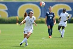 2015 il calcio delle donne del NCAA - Villanova @ WVU Fotografie Stock