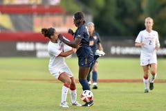 2015 il calcio delle donne del NCAA - WVU-Maryland Fotografie Stock