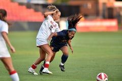 2015 il calcio delle donne del NCAA - WVU-Maryland Immagine Stock Libera da Diritti