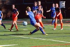Il calcio delle donne di divisione III del NCAA dell'istituto universitario Fotografia Stock