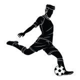 Il calcio di calcio profila il giocatore Immagini Stock