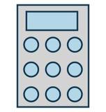 Il calcolatore, calcolo ha isolato l'icona di vettore per il partito e la celebrazione illustrazione vettoriale