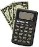 Il calcolatore finanziario. Fotografia Stock
