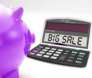 Il calcolatore grande di vendita significa lo speciale enorme royalty illustrazione gratis