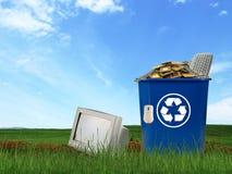 Il calcolatore parte i rifiuti Fotografia Stock
