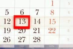 Il calendario Fotografie Stock Libere da Diritti