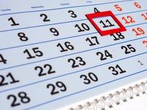 Il calendario murale Fotografie Stock
