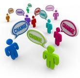 Il cambiamento è contagioso - la gente che cambia per riuscire nella vita royalty illustrazione gratis
