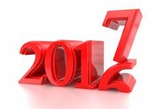 2016-2017 il cambiamento rappresenta il nuovo anno 2017 Immagine Stock Libera da Diritti
