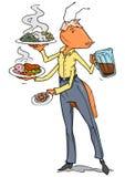 Il cameriere servisce la formica Immagini Stock