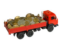 Il camion con soldi Fotografie Stock