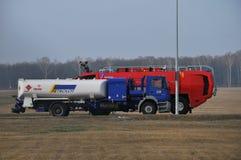 Il camion dei vigili del fuoco dell'aeroporto Fotografia Stock