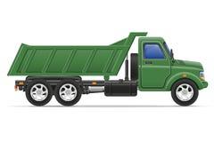 Il camion del carico per trasporto delle merci vector l'illustrazione Fotografie Stock Libere da Diritti