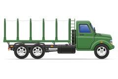 Il camion del carico per trasporto delle merci vector l'illustrazione Immagine Stock Libera da Diritti