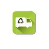 Il camion dell'automobile ricicla il simbolo Logo Web Icon verde Fotografia Stock