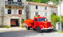 Il camion rosso Fotografia Stock