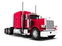 Il camion rosso per trasporto delle merci ad altri paesi 3d si strappa illustrazione di stock