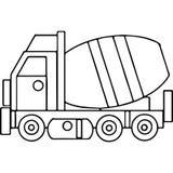 Il camion scherza le figure geometriche che colorano la pagina Fotografia Stock Libera da Diritti