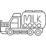 Il camion scherza le figure geometriche che colorano la pagina Immagini Stock Libere da Diritti