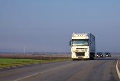 Il camion su una riga Immagine Stock