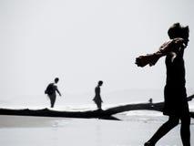 Il camminatore Fotografia Stock