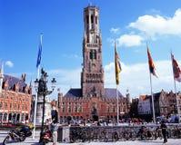 Il campanile, Bruges Fotografia Stock