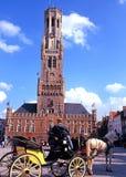 Il campanile, Bruges Fotografie Stock Libere da Diritti