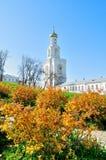 Il campanile del monastero di Yuriev in Veliky Novgorod, Russia Immagine Stock Libera da Diritti