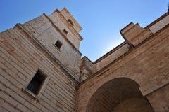 Il campanile della cattedrale di Ciudad Real, Spagna Fotografia Stock Libera da Diritti