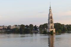 Il campanile di Kalyazin Immagini Stock Libere da Diritti