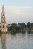Il campanile di Kalyazin Fotografie Stock Libere da Diritti