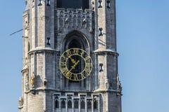 Il campanile ha chiamato Belfry a Gand, Belgio fotografia stock libera da diritti