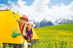 Il campeggio è cosa di divertimento da fare Fotografie Stock