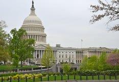 Il Campidoglio degli Stati Uniti in Washington DC in primavera Fotografia Stock Libera da Diritti