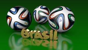 Il campionato del mondo su un calcio di 2014 che passa nel Brasile di estate Fotografia Stock